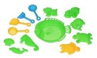 Набор для игры с песком Same Toy 13 единиц зеленый (B002-3Ut-1)