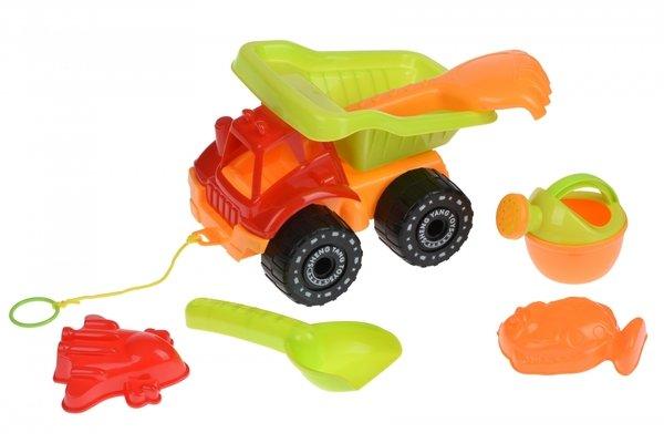 Купить Набор для игры с песком Same Toy 6 ед.Грузовик Красный 919Ut-1