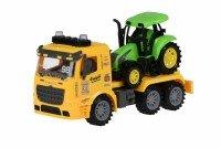 Машинка инерционная Same Toy Truck Тягач с трактором со светом и звуком желтый (98-615AUt-1)