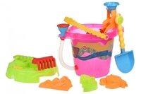 Набор для игры с песком Same Toy Ведерко 6 единиц розовое (976Ut-1)