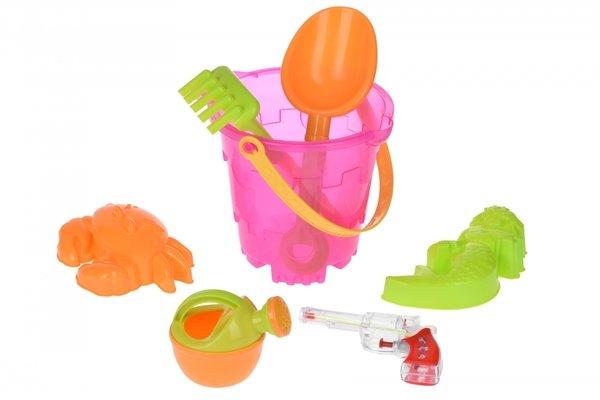 Купить Набор для игры с песком Same Toy 6 ед.Ведерко розовое 882Ut-2