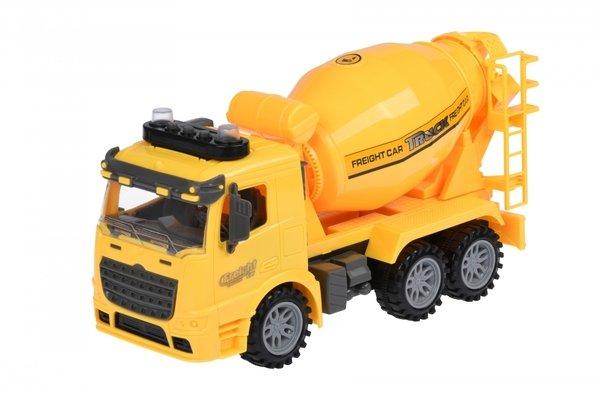 Купить Машинка инерционная Same Toy Truck Бетономешалка желтая со светом и звуком 98-612AUt-2