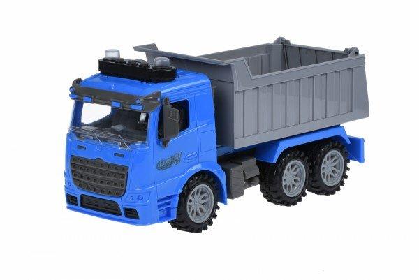Купить Машинка инерционная Same Toy Truck Самосвал синий со светом и звуком 98-611AUt-2