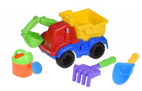 Купить Набор для игры с песком Same Toy с Экскаватором 4шт красный HY-1810WUt-1