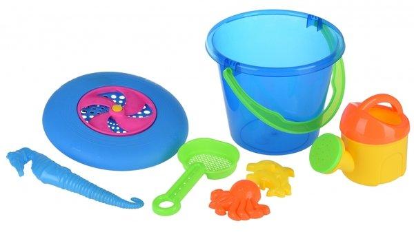 Купить Набор для игры с песком Same Toy с Летающей тарелкой (синее ведро) 8 шт HY-1205WUt-1