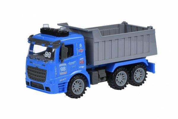 Машинка инерционная Same Toy Truck Самосвал синий со светом и звуком 98-614AUt-2  - купить со скидкой