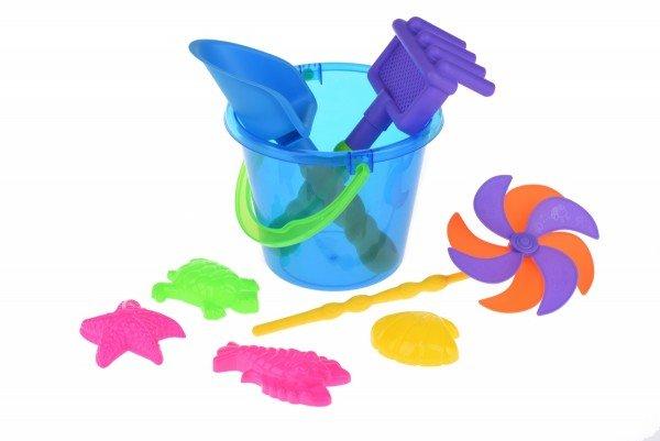 Купить Набор для игры с песком Same Toy с Воздушной вертушкой (синее ведро) 9 шт HY-1206WUt-3