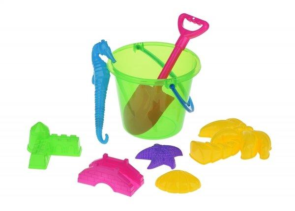 Купить Набор для игры с песком Same Toy 8 шт зеленое ведро HY-1204WUt-3