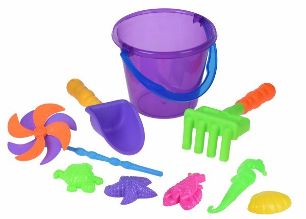 Купить Набор для игры с песком Same Toy с Воздушной вертушкой (фиолетовое ведро) 9 шт HY-1206WUt-2