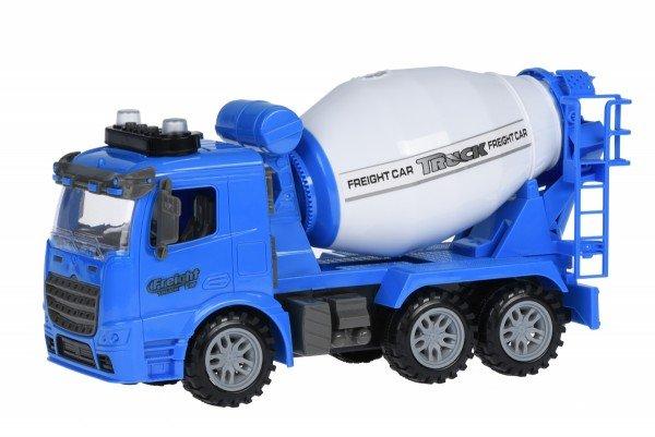 Купить Машинка инерционная Same Toy Truck Бетономешалка синяя со светом и звуком 98-612AUt-1