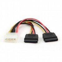 Cablexpert кабель питания (Molex) M/F + 2 SATA кабель питания, 150 мм (CC-SATA-PSY)