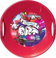 Санки-тарелка Alpen Rutscher з принтом красные