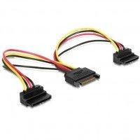 Cablexpert кабель питания SATA двойной 0,15м. (CC-SATAM2F-02)