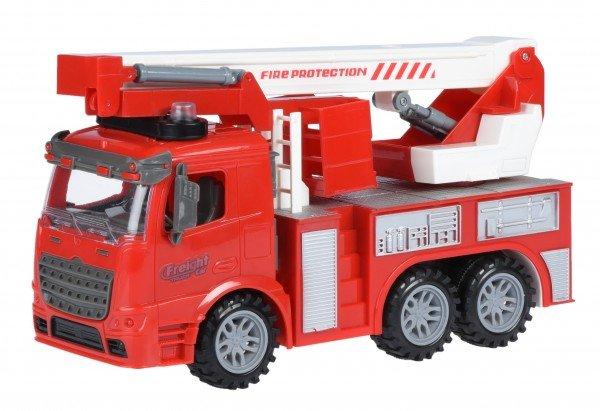 Купить Машинка инерционная Same Toy Truck Пожарная машина с подъемным краном со светом и звуком (98-617AUt)