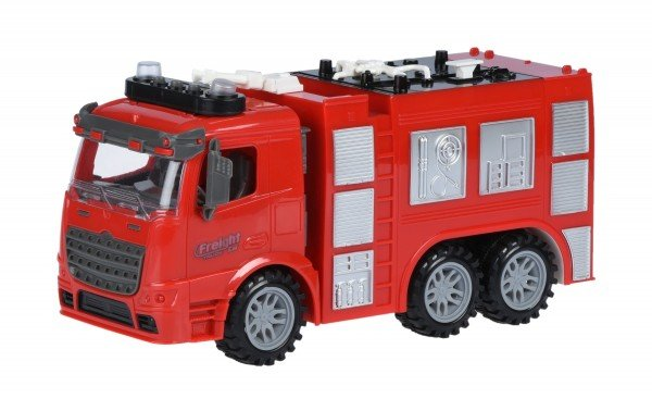 Купить Машинка инерционная Same Toy Truck Пожарная машина со светом и звуком (98-618AUt)