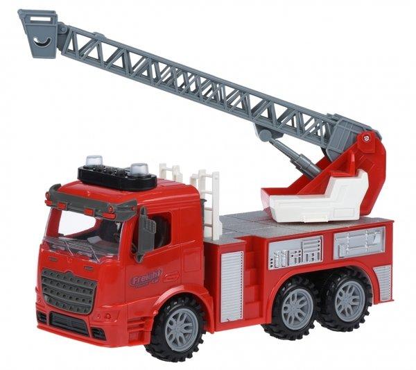 Купить Машинка инерционная Same Toy Truck Пожарная машина с лестницей со светом и звуком (98-616AUt)