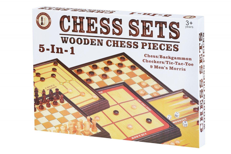 Настольная игра Same Toy Шахматы 5в1 (520Ut) фото 1