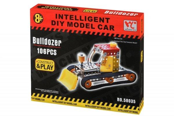Купить Конструктор металлический Same Toy Inteligent DIY Model Car Бульдозер 106 элементов (58035Ut)