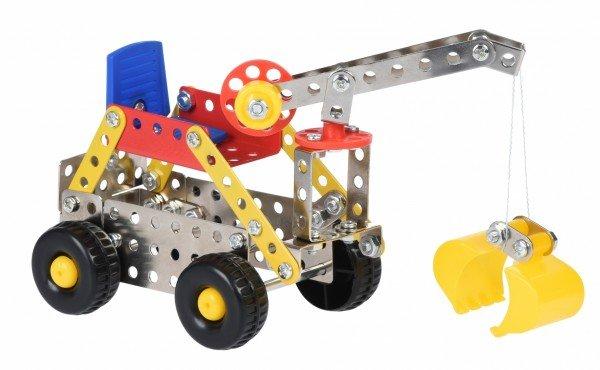 Купить Конструктор металлический Same Toy Inteligent DIY Model Car Скрепер 124 элемента (58034Ut)