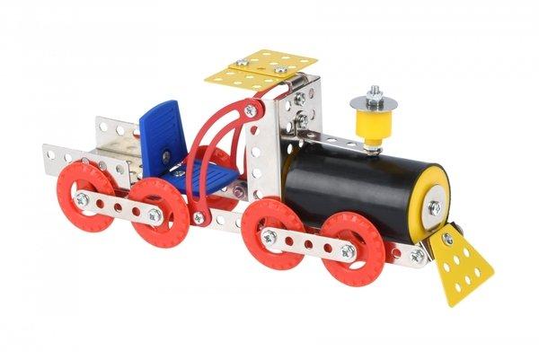 Купить Конструктор металлический Same Toy Inteligent DIY Model Car Паравоз 117 элементов (58033Ut)