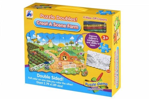 Пазл-раскраска Same Toy Ферма (2035Ut)
