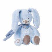 Мягкая игрушка Nattou Кролик Бибу 21см. с музыкой (321068)