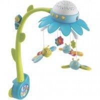 Музыкальный мобиль-проектор Smoby Cotoons Цветок с пультом управления голубой (110111)