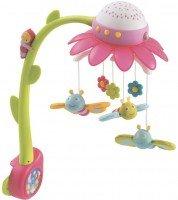 Музыкальный мобиль-проектор Smoby Cotoons Цветок с пультом управления розовый (110112)