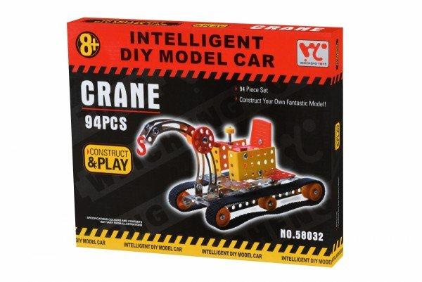 Купить Конструктор металлический Same Toy Inteligent DIY Model Car Кран 94 элемента (58032Ut)