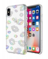 Чехол Incipio для iPhone X Design Series - Classic for Princess Peach - Holographic Kisses