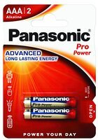 Батарейка Panasonic PRO POWER AAA BLI 2 ALKALINE (LR03XEG/2BP)