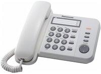 Телефон шнуровой Panasonic KX-TS2352UAW White