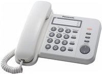 Телефон шнуровий Panasonic KX-TS2352UAW White