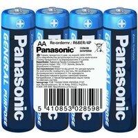 Батарейка Panasonic GENERAL PURPOSE R6 TRAY 4 ZINK-CARBON (R6BER/4P)