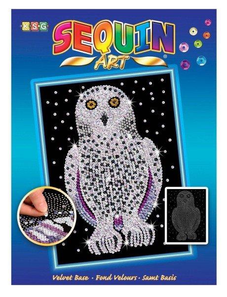 Купить Набор для творчества Sequin Art BLUE Snowy Owl New (SA1604)