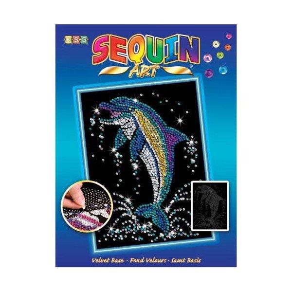 Купить Набор для творчества Sequin Art BLUE Dolphin (SA1516)