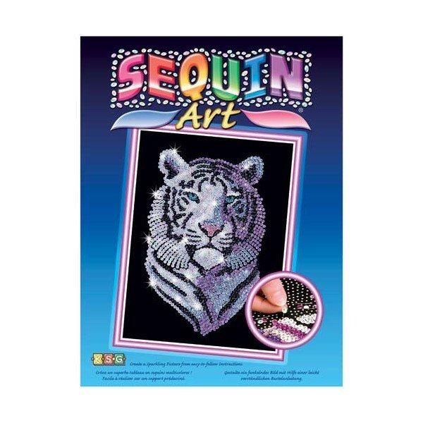 Купить Набор для творчества Sequin Art BLUE Snow Tiger (SA1217)