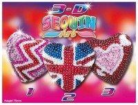 Набор для творчества Sequin Art 3D TRIO Hearts (SA1308)