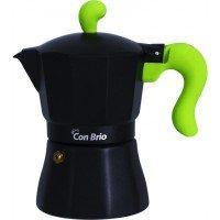 Гейзерна кавоварка Con Brio CB-6606 300мл, зелений