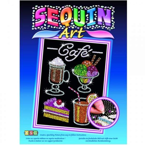 Купить Набор для творчества Sequin Art BLUE Cafe (SA1424)