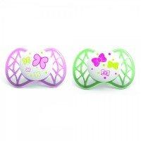 Пустушка симетрична Nuvita Air 0м+ 2шт. для дівчинки (NV7061Girl)