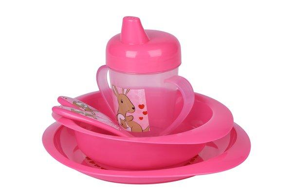 Набор для кормления Nuvita 12м+ Розовый 3 предмета. (NV1495Pink)