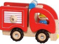 Машинка деревянная goki Пожарная красный (55927G)