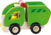 Машинка деревянная goki Мусоровоз зеленый (55964G)