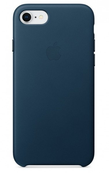 Купить Чехол Apple Leather Case для iPhone 8 / 7 Cosmos Blue (MQHF2ZM/A)