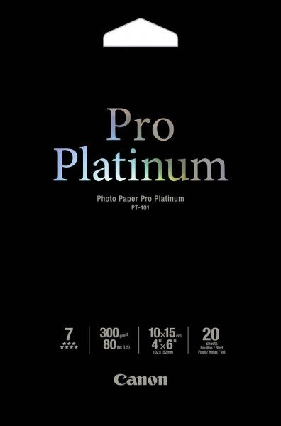 Купить Фотобумага CANON 100mmx150mm Pro Platinum Photo Paper, 20л (2768B013)