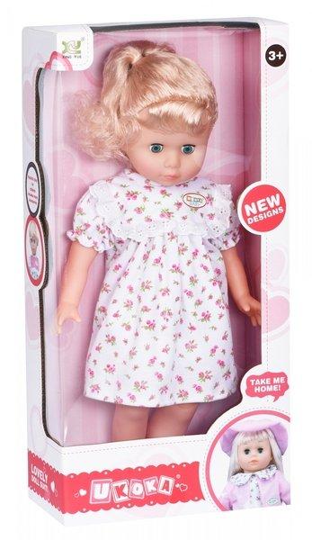 Купить Кукла Same Toy белое платье в розовый цветочек 45 см 8010BUt-1