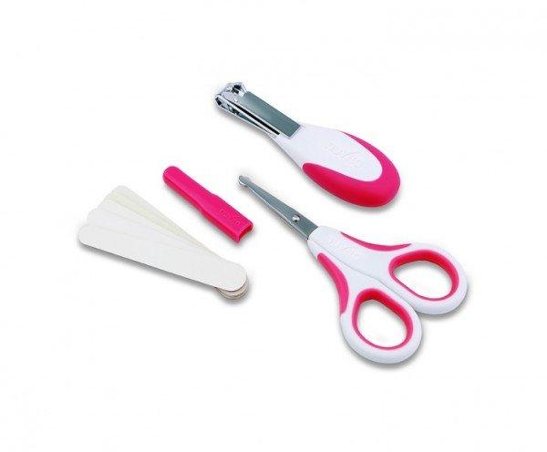 Купить Набор по уходу за ребенком Nuvita 0м+ Розовый Безопасные ножнички с акс. NV1138Pink