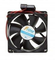 Корпусний вентилятор Frime 80*80*25 4pin Black (FF80SB4)