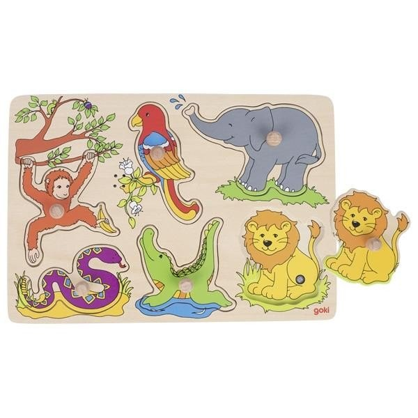 Купить Пазл со звуком goki Зоопарк (57862G)